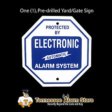 1 Security Burglar Alarm System Yard / Gate Signs