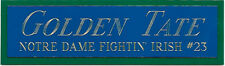 GOLDEN TATE Notre Dame NAMEPLATE AUTOGRAPHED Signed Football HELMET JERSEY PHOTO