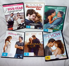 CHICK FLICKS PACK 1 x 6 DVDs Remember Me, Like Crazy, Forces of Nature, The Vow