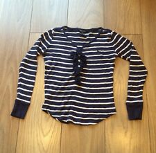 Girls Blue / White Striped Age 10 Ralph Lauren Jumper