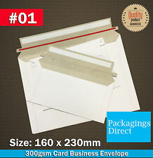 100 #01 Card Mailer 160x230mm 300GSM Envelope - A5 C5 Size Tough Bag Replacement