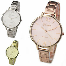 New Women's Stainless Steel Thin Band Analog Quartz Dress Wrist Watch Rose Gold