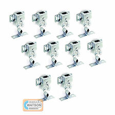 10x Metal DOUBLE ROLLER CATCH Zinc Plated Door Cupboard Caravan Latch Silver