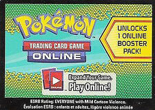 10x Pokemon Dragons Exalted Code Cards for Pokemon TCG Online Booster Packs