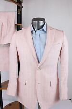 RARE Brooks Brothers Great Gatsby Collection 38R STUNNING Pink Stripe Linen Suit