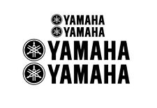 Yamaha with logo Rim Decal stickers 2x (200mm x 50mm) 2x (100mm x 25mm)