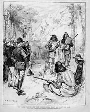 APACHE CHIEF NANE AND INDIANS SURRENDER ASKING FOR PEACE IN GENERAL CROOK CAMP