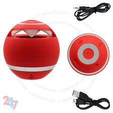 New Red Mini Speaker Bluetooth Wireless Hand-Free For PC Laptop Mobile S247
