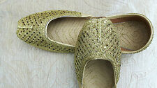 GOLD LADIES INDIAN LEATHER WEDDING   PARTY SHOES   SIZE 6