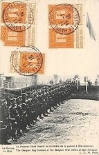 POSTCARD   MILITARY   WWI   The  Belgian  Flag  hoisted at War  Office