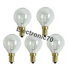 5 Stück Backofen Lampe E14 300° 40W Klar Tropfenform