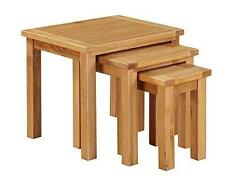 Metro Oak Nest of 3 Tables - Set of 3 Nested Tables - Finish : Light Oak