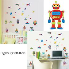 Removable Robots Rockets Space Ship Stars Wall Sticker DIY Home Room Decal Decor