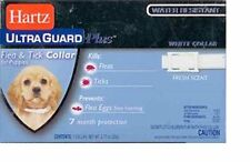 "HARTZ ULTRA PLUS FLEA & TICK EGG PUPPY COLLAR 15"" WHITE 7 MONTH FREE SHIP TO USA"