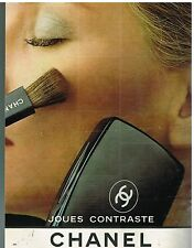 "Publicité Advertising 1980 Cosmétique maquillage ""Joues contraste"" par Chanel"