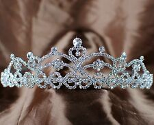 Heart Tiara Crown Bridesmaid Heandband Clear Crystal Wedding Bridal Pageant Prom