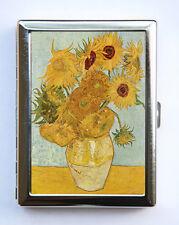 Sunflowers Cigarette Case Wallet Business Card Holder fine art painting van gogh