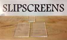 ACRYLIC STAMPING BLOCKS 5mm THICK *NEW*  PACK OF 3 . MADE IN THE UK