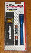 MAGLITE PRO PLUS LED 2 Cell AA Flashlight, Blue Mag Lite Maglight 245 Lumens