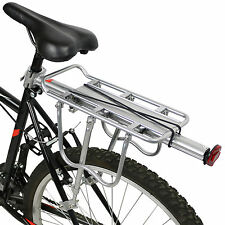 PEDALPRO STRONG ALLOY SILVER REAR BICYCLE PANNIER BAG/LUGGAGE RACK REFLECTOR