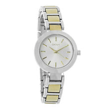 DKNY Ladies Silver Dial Two Tone Stainless Steel Quartz Watch NY8832