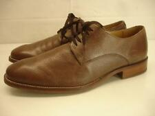 mens 8 M Cole Haan Williams Casual Plain Toe Oxford Shoes Brown Pebbled Leather