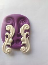 Swirls Silicone Mould (Shabby Chic Cupcake Topper.Crafts.dolls. Wedding.