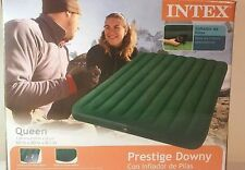Intex Queen Prestige Air Bed Outdoor Camping Downy Inflatable Mattress | 66969E