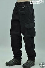 """1/6 Scale Men's Black combat trousers For 12"""" Male Action Figure Body"""