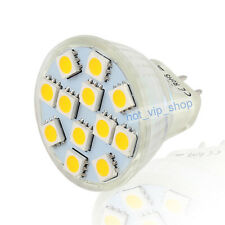 MR11 G4 Warm White 12 SMD LED Spot Light Bulb Lamp 12V 1.8W 5050 Chip