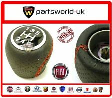 Fiat Punto Evo 5 Speed Black Leather & Red Stitching Gear Knob Brand New Genuine