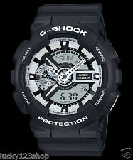 GA-110BW-1A Black Casio Watches G-Shock 200M Analog Digital X-Large Resin New