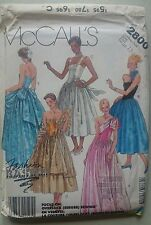 Vintage 1980s Sewing Pattern McCall's 2800 Gown or Dress & Stole Uncut 12-14-16