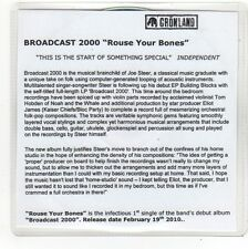 (FO43) Broadcast 2000, Rouse Your Bones - 2010 DJ CD