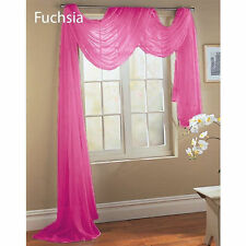 1 ELEGANCE SHEER VALANCE SCARF TOPPER SWAG WINDOW TREATMENT COVERING ALL STYLES