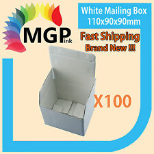 100X New Small Size White Mailing Box 110x90x90mm Carton Au POST Parcel Satchel