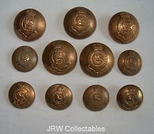 """Set of British Army:""""11x ROYAL DRAGOONS BRASS BUTTONS"""" (25mm-18mm, Firmins)"""