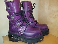 NEW ROCK REACTOR WOMEN'S PURPLE BOOTS SIZE UK 6
