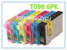 6 PACK of T098 Non-OEM INK FOR EPSON Artisan 725 810 835