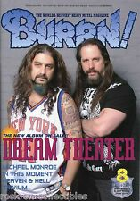 Burrn! Heavy Metal Magazine August 2009 Japan Dream Theater Voivod Steel Panther
