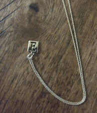 """Stella and Dot """"E"""" Soho Charm with Necklace"""