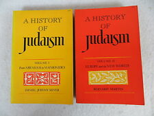 Daniel Jeremy Silver  A HISTORY OF JUDAISM  Two Volumes Basic Books, Inc.  1974
