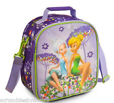Disney Store Tinker Bell Lunch Box Bag Tote School Purple Faries 2014