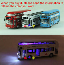 19cm London Double Deck Bus Sound Light Model Toys X1PC Birthday Xmas Gift