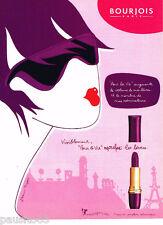 PUBLICITE ADVERTISING 075  2001  BOURJOIS maquillage rouge à lèvres POUR LA VIE