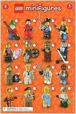 Lego Minifigures Series 4 COMPLETE SET OF 16 MINIFIGURES discontinued