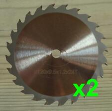 Two 120mm x 9.5mm Circular Saw Blades, wood cut for WORX WORXSAW XL WX249, WX247