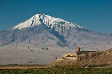 Church Khor Virap And Mount Ararat Armenia Poster 29'' X 19""