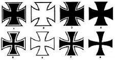Iron Cross Aufkleber 8 Motive Eisernes Kreuz 10X10cm !