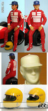 1/12 DRIVER FIGURE SENNA SEATED fo McLAREN MP4/6 MP4/4 LOTUS 97T 98T HIRO TAMIYA